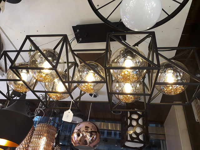 Caged chandelier