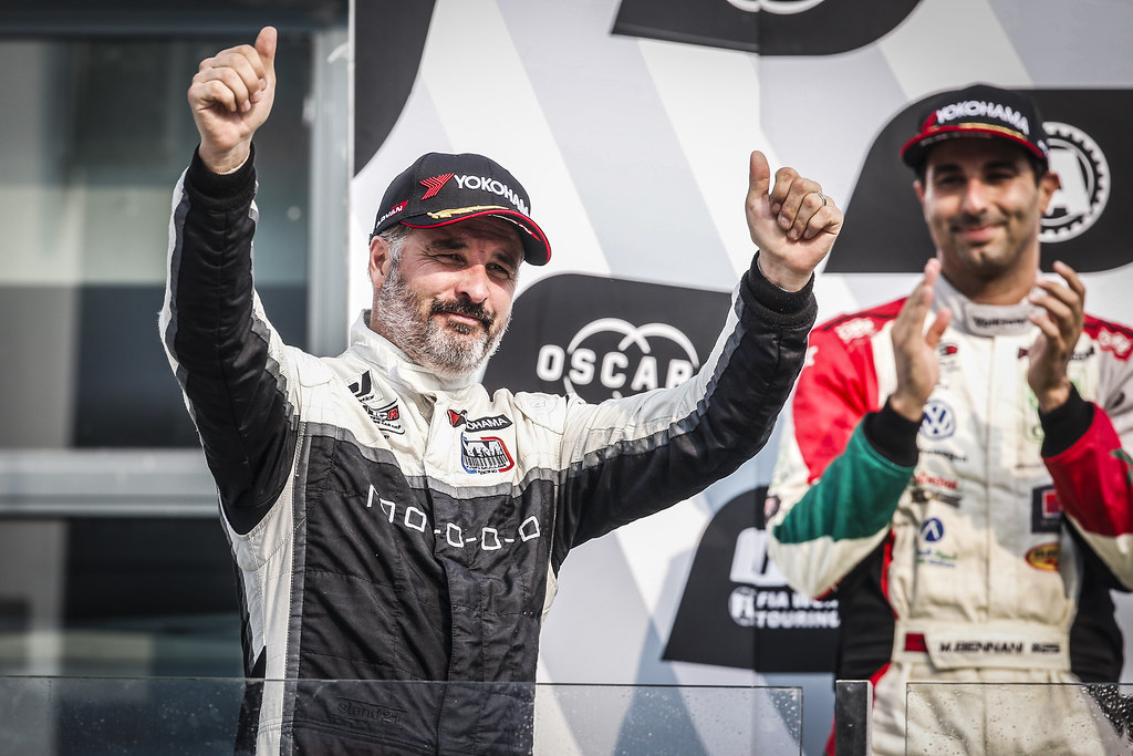 MULLER Yvan, (fra), Hyundai i30 N TCR team Yvan Muller Racing, portrait, winner race 2 podium ambiance during the 2018 FIA WTCR World Touring Car cup of China, at Ningbo  from September 28 to 30 - Photo Jean Michel Le Meur / DPPI