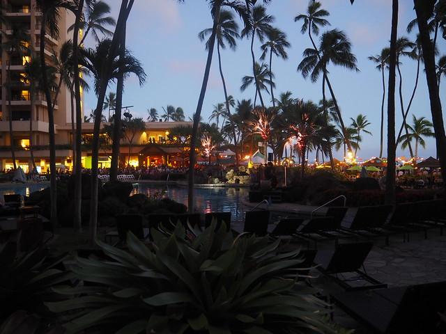 P7078950 ヒルトンハワイアンビレッジ 花火 ハワイ hawaii ひめごと