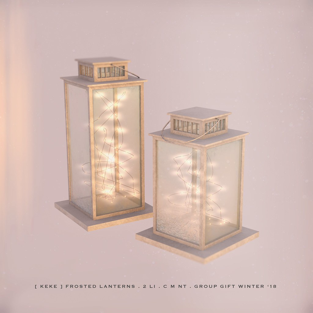 [ keke ] frosted lanterns . group gift winter '18