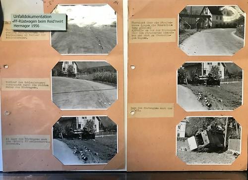 Gendarmerie Unfalldokumentation 1956