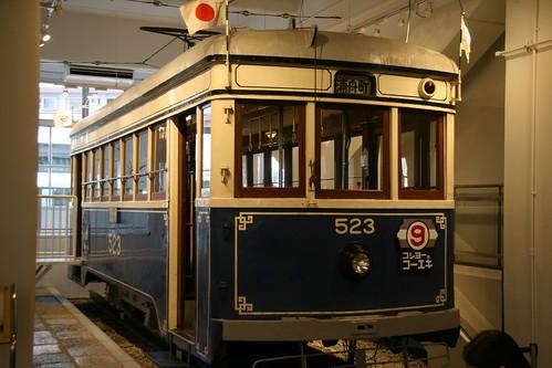 Yokohama Municipal Tram 500 series in Yokohama Tram Museum, Yokohama, Kanagawa, Japan  /July 17, 2017