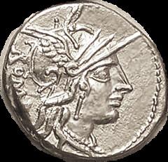 Tullius Roma Head obverse
