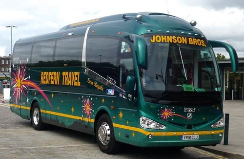 YR18 CLJ 'Johnson Brothers', Worksop. 'Euro Royale'. Irizar i6 on Dennis Basford's railsroadsrunways.blogspot.co.uk'
