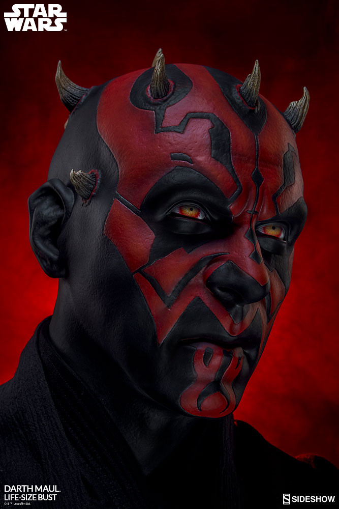 Let the Dark Side Permeate Your House! Sideshow Collectibles Darth Maul Life-Size Bust