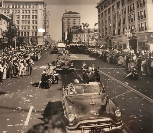 General Dwight D Eisenhower Presidential Campaign motorcade 1952. From History Comes Alive at The US Grant Hotel