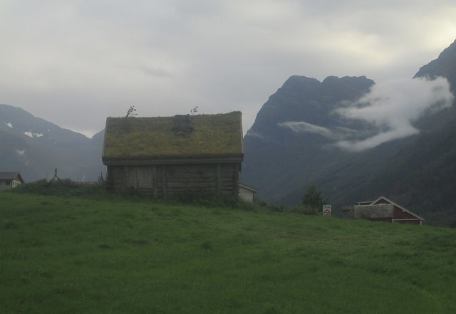 Turfed Roof Building, Olden, Norway