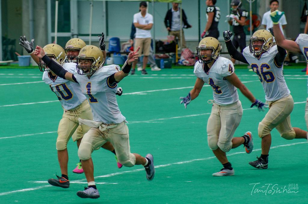中四国学生アメリカンフットボールリーグ2018 決勝トーナメント 広島大0-7愛媛大