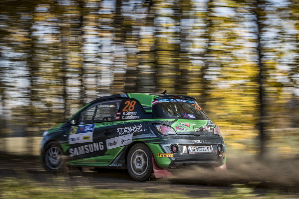 28 STENGG Roland , (AUT), Claudia DORFBAUER, (AUT), Stengg Motorsport, Opel Adam R2, Action during the 2018 European Rally Championship ERC Liepaja rally,  from october 12 to 14, at Liepaja, Lettonie - Photo Gregory Lenormand / DPPI