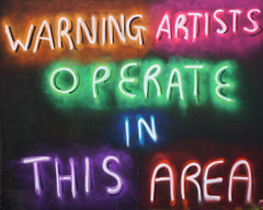 Warning graffiti artists