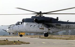 """Mil Mi-35 """"Hind"""" - Kosta taxiing @ LKNA"""