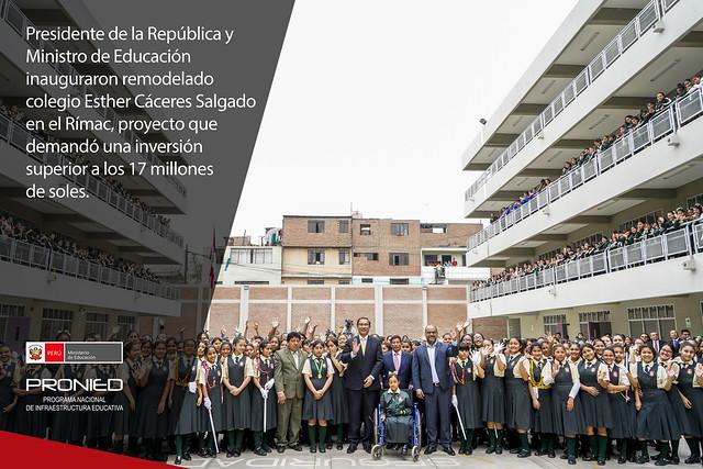 Remodelación del colegio Esther Cáceres en el Rímac