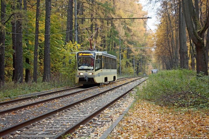 Трамвай УКВЗ 71-619А №4355, Измайловский проспект.