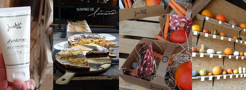 crema de manos de calabaza, restaurante, caja de ingredientes, exposición de calabazas