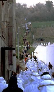 Calitri (AV), 1981, Processione del Venerdì Santo.