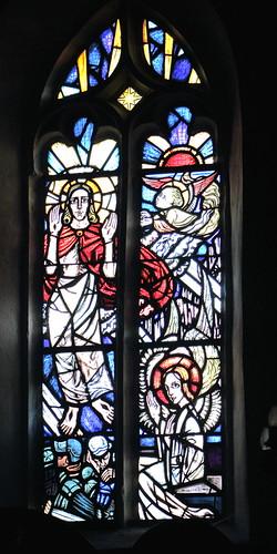 Ina Hoßfeld, Fenster Mitte, Auferstehung