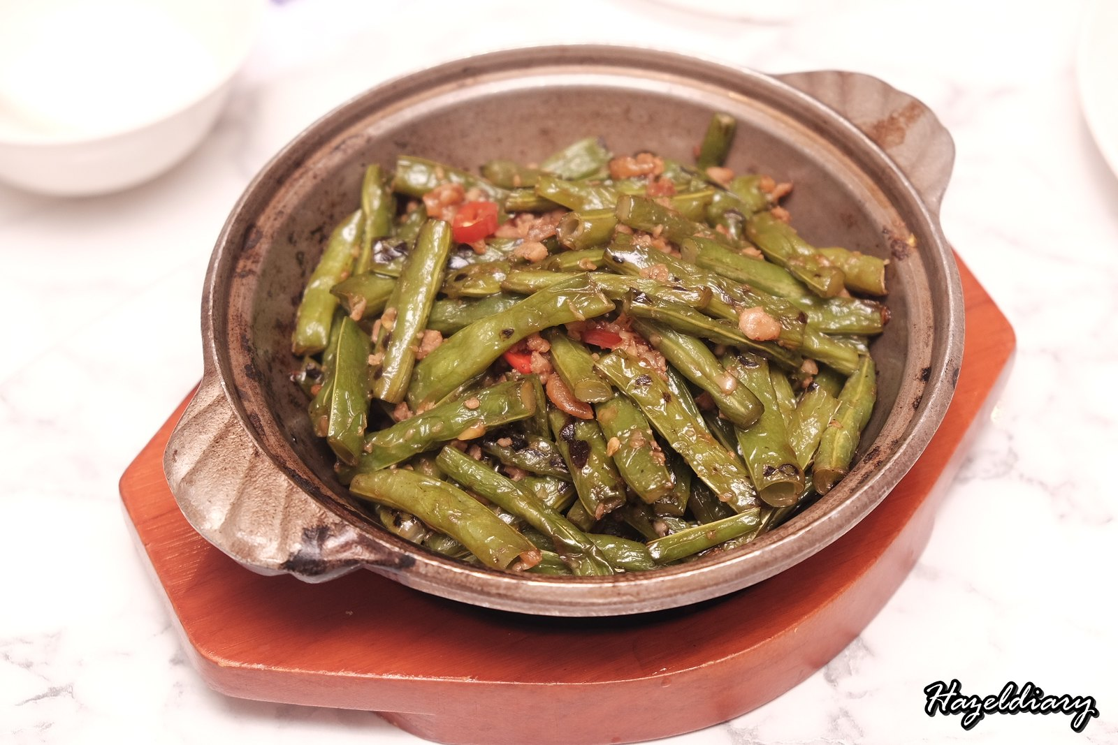 Crystal Jade Kitchen Holland Village-Sauteed French Bean with Tai O Shrimp Paste and Minced Pork