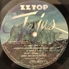 ZZ TOP:TEJAS(LABEL SIDE-A)