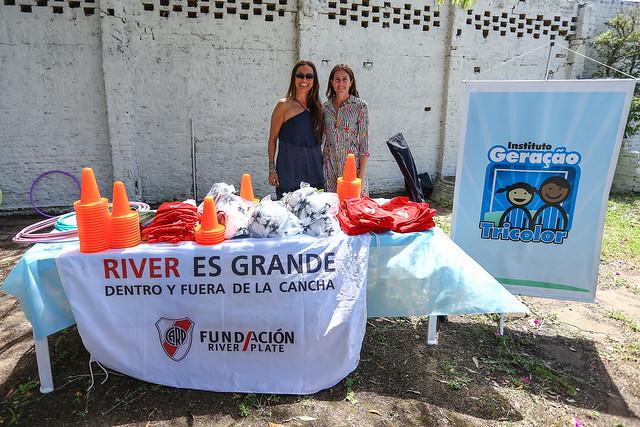 Fundação River Plate visita o Instituto Geração Tricolor