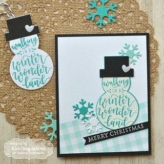 Taylored Expressions Flip the Script Snowman Tag