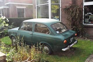 Fiat 850D 1971 in garden
