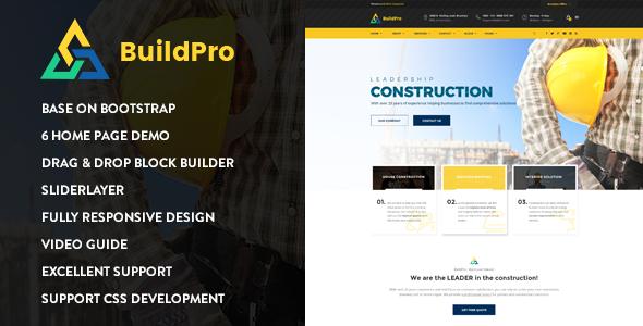 BuildPro - Construction Drupal 8.6 Theme