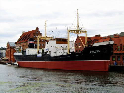 SS Sołdek in the Old Harbor on the Motława River in Gdansk