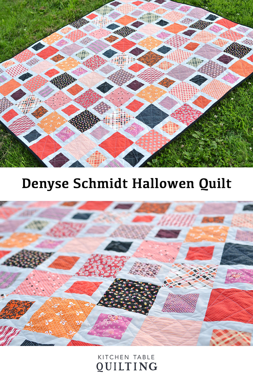 Denyse Schmidt Halloween Quilt - Kitchen Table Quilting #quilt