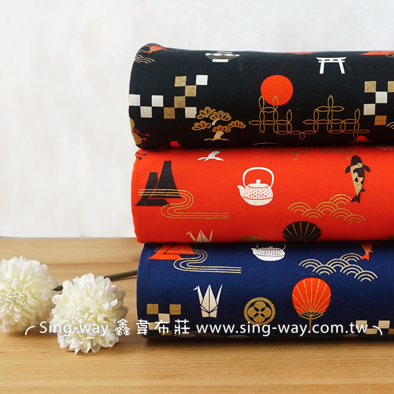 燙金京都風 金魚 紙鶴 葫蘆 茶壺 海浪 日式風格 CA450761