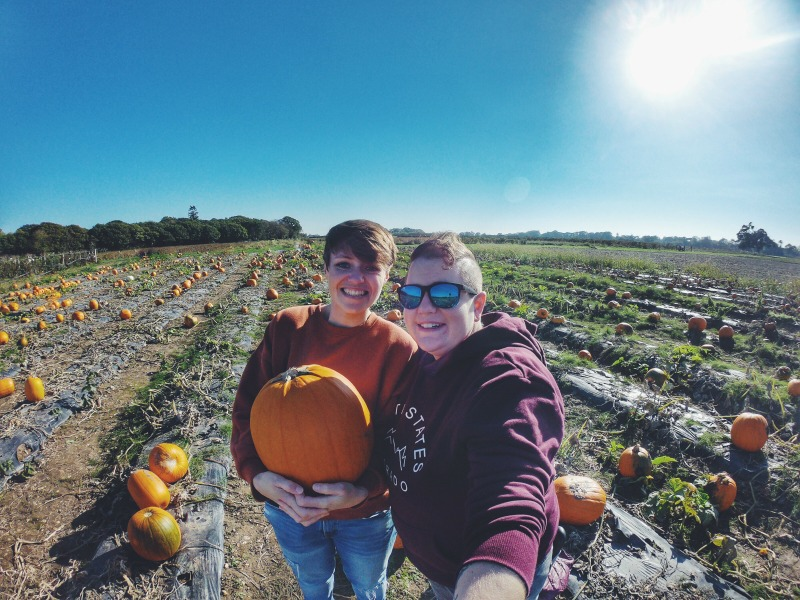 Smiles with the pumpkin