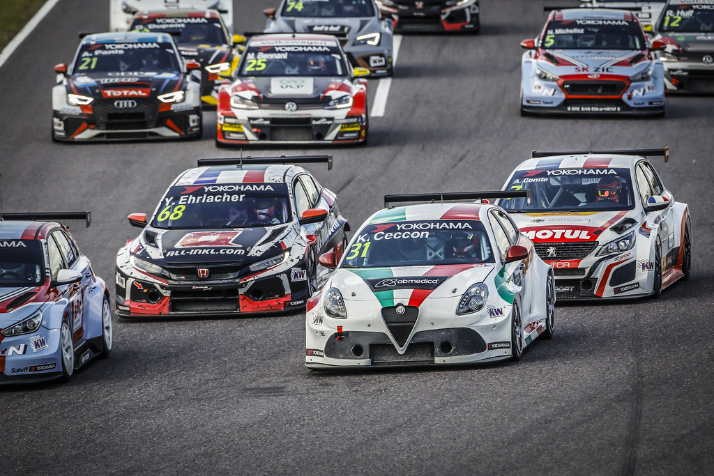 31 CECCON Kevin (ITA), Alfa Romeo Giulietta TCR, Mulsanne Srl, actionStart race 3 during the 2018 FIA WTCR World Touring Car cup of Japan, at Suzuka from october 26 to 28 - Photo Francois Flamand / DPPI