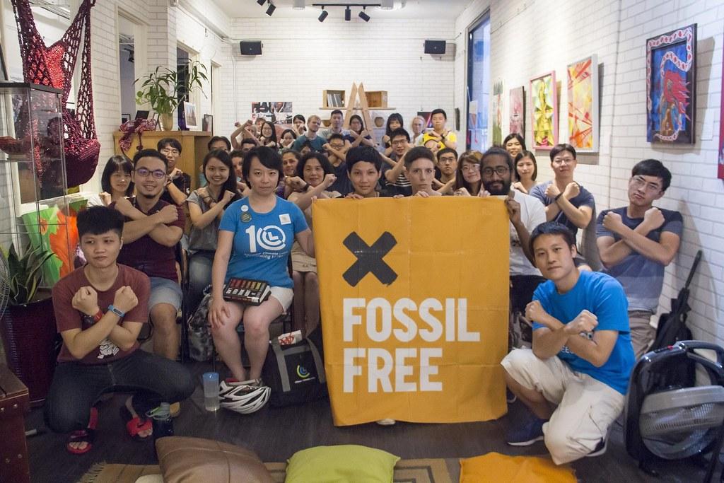 350台灣與Red Room等團隊合作,利用藝文活動來講述撤資議題。圖片來源:350台灣