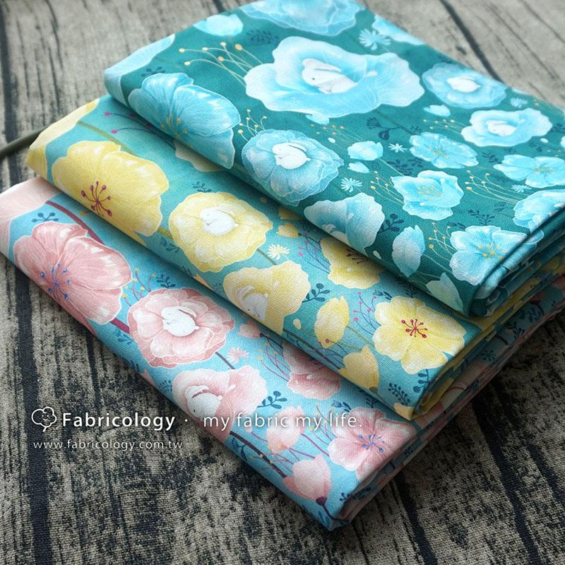 布學盒裝印花布(1y)拇指兔 手工藝DIY布料 SW001809-7