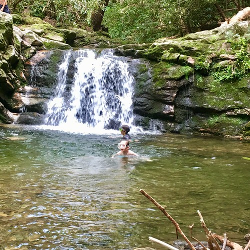 Wife at the swimming hole