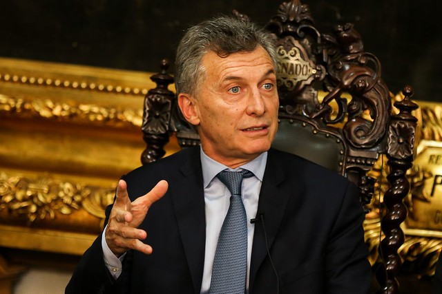 Presidente da Argentina, Mauricio Macri, em visita ao Senado Federal brasileiro  - Créditos: Marcelo Camargo/Agência Brasil