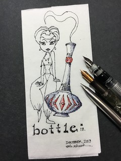Inktober 2018 - Day 18.  Bottle