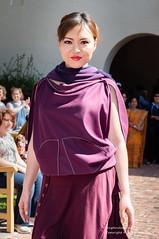 Model Amethyst wearing Ricochet Wearable Art