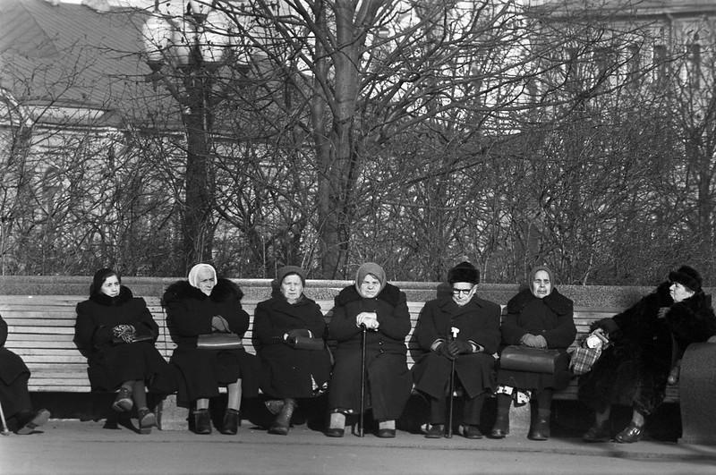 В сквере на Пушкинской площади