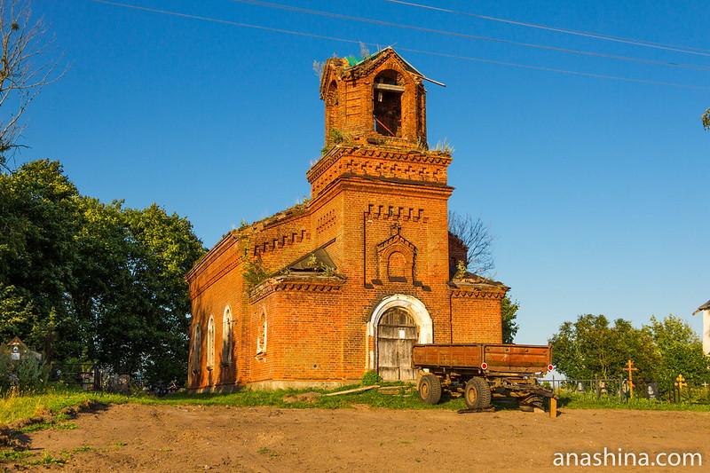 Спасо-Преображенская церковь, Чернавино, Васильевский погост, Ленинградская область