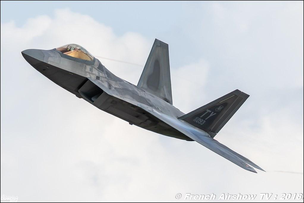 AFRC 70th Anniversary F-22 Raptor airpower EAA Oshkosh 2018