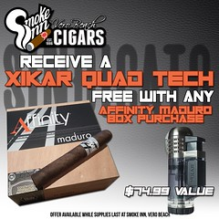 Xikar Tech Quad Torch FREE with Sindicato Affinity Maduro box purchase