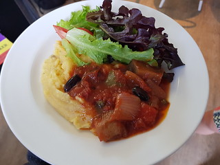 Lunch - Salad, Polenta, Stewed Vegetables at Science Week QT Hotel