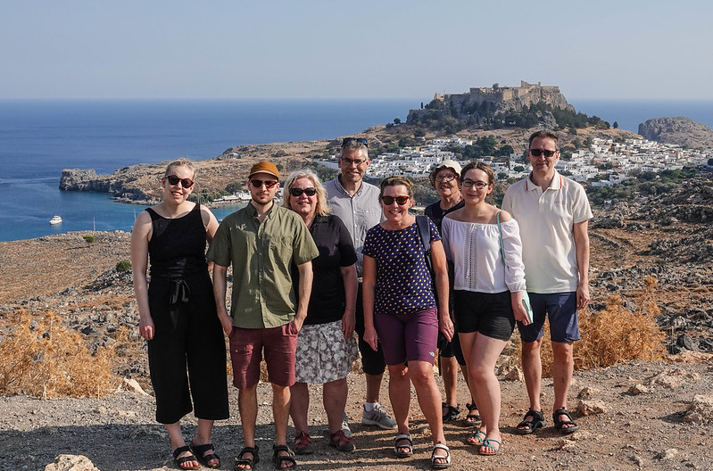 A group photo at Lindos