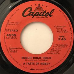 A TASTE OF HONEY:BOOGIE OOGIE OOGIE(LABEL SIDE-A)
