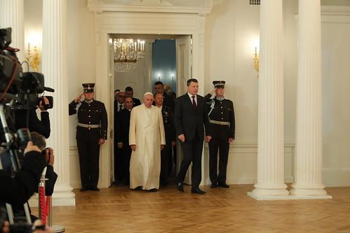 Oficiālā ceremonija Rīgas pilī
