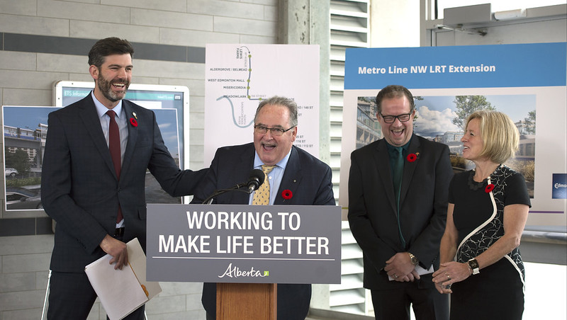 Alberta funds Edmonton Valley Line West
