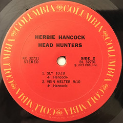 HERBIE HANCOCK:HEAD HUNTERS(LABEL SIDE-B)