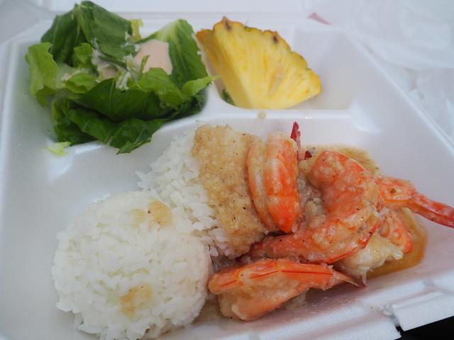 P7078936 ケンズキッチン(Ken's Kitchen) hawaii ガーリックシュリンプ ワイキキ ひめごと