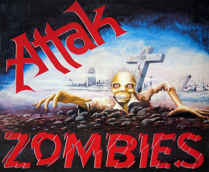 "Attak Zombies 12"" vinyl LP"