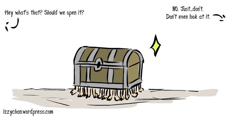 discworld luggage dont open it